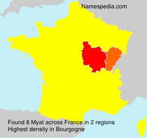 Surname Myat in France