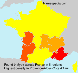 Surname Myatt in France