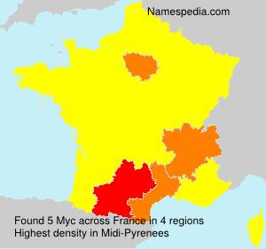 Familiennamen Myc - France