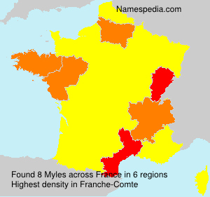 Surname Myles in France