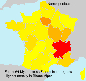 Surname Myon in France