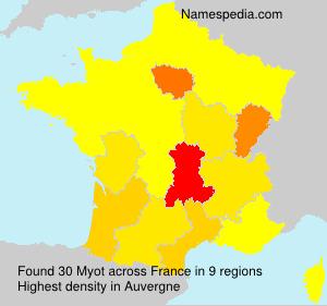 Familiennamen Myot - France