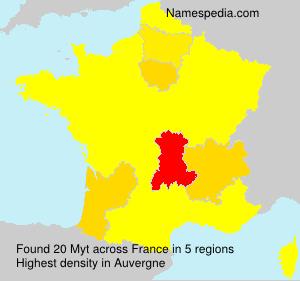 Surname Myt in France