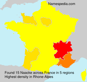 Surname Naacke in France