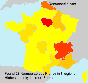 Surname Naanaa in France