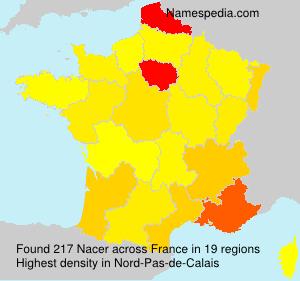 Familiennamen Nacer - France