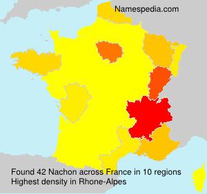 Surname Nachon in France