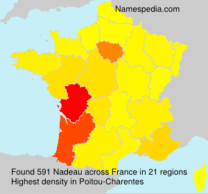 Surname Nadeau in France