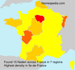Surname Naderi in France