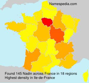 Familiennamen Nadin - France