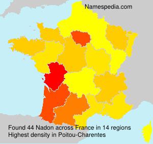 Surname Nadon in France