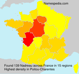 Surname Nadreau in France