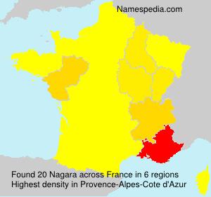 Familiennamen Nagara - France