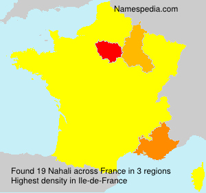 Surname Nahali in France