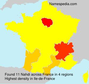 Surname Nahdi in France