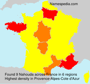 Surname Nahouda in France