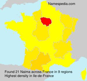Surname Naima in France