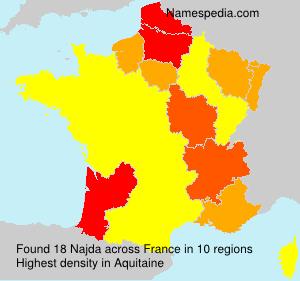 Surname Najda in France