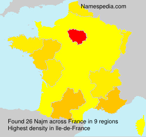 Surname Najm in France