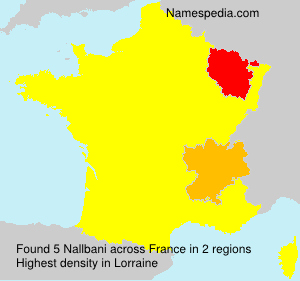 Surname Nallbani in France