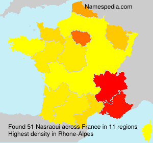 Surname Nasraoui in France