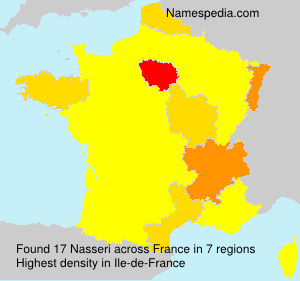 Surname Nasseri in France