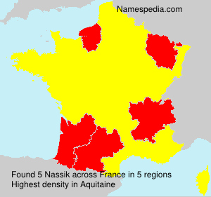 Surname Nassik in France