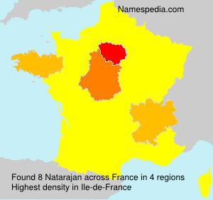 Surname Natarajan in France