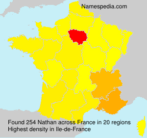 Surname Nathan in France
