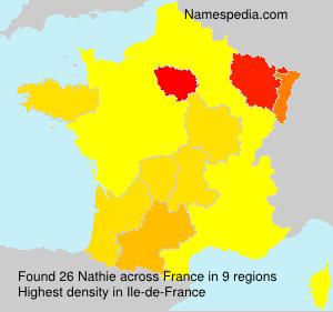 Familiennamen Nathie - France