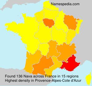 Surname Nava in France