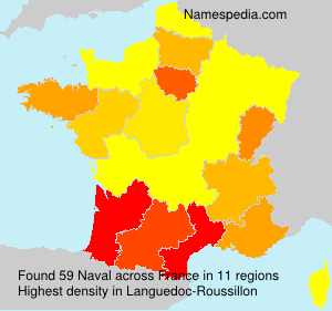 Surname Naval in France
