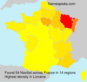 Surname Naviliat in France