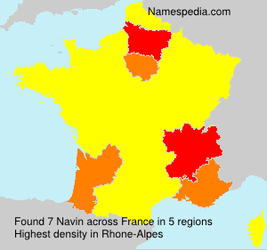 Surname Navin in France