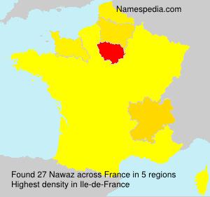 Surname Nawaz in France