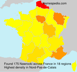 Surname Nawrocki in France