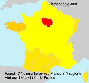 Surname Nazarenko in France