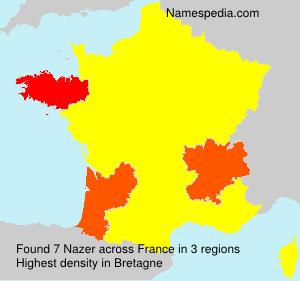 Surname Nazer in France