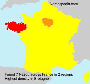 Surname Nazou in France