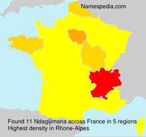 Familiennamen Ndagijimana - France