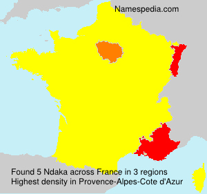 Surname Ndaka in France