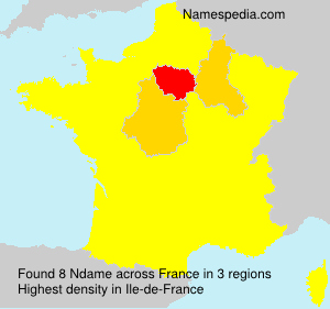 Surname Ndame in France
