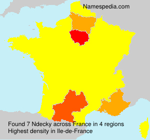 Surname Ndecky in France