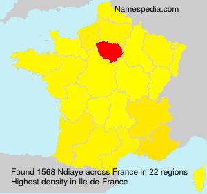 Familiennamen Ndiaye - France