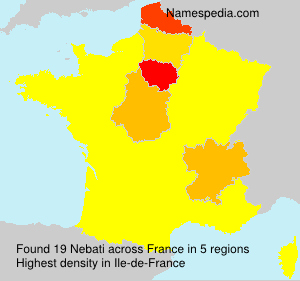 Familiennamen Nebati - France