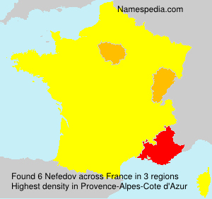 Surname Nefedov in France