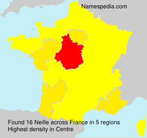 Surname Neille in France