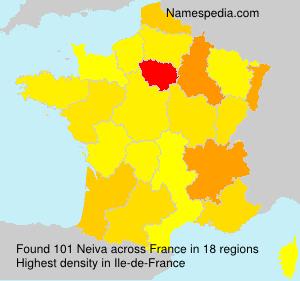 Surname Neiva in France