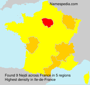 Surname Nejdi in France