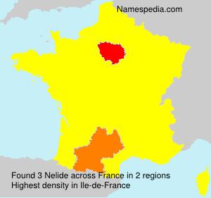 Familiennamen Nelide - France